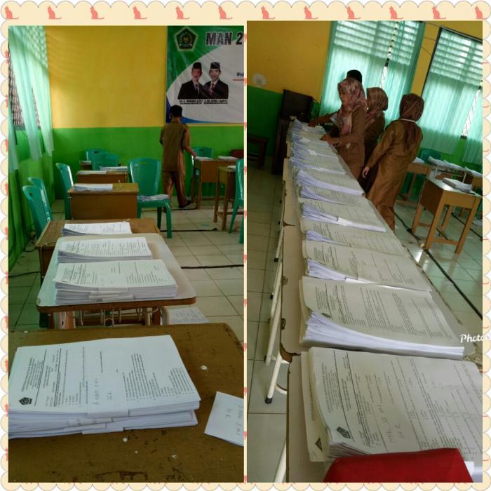 Panitia Ujian MAN 2 Tebo  Mempersiapkan Penilaian Akhir Semester (PAS) Ganjil Tahun Pelajaran 2020/2021