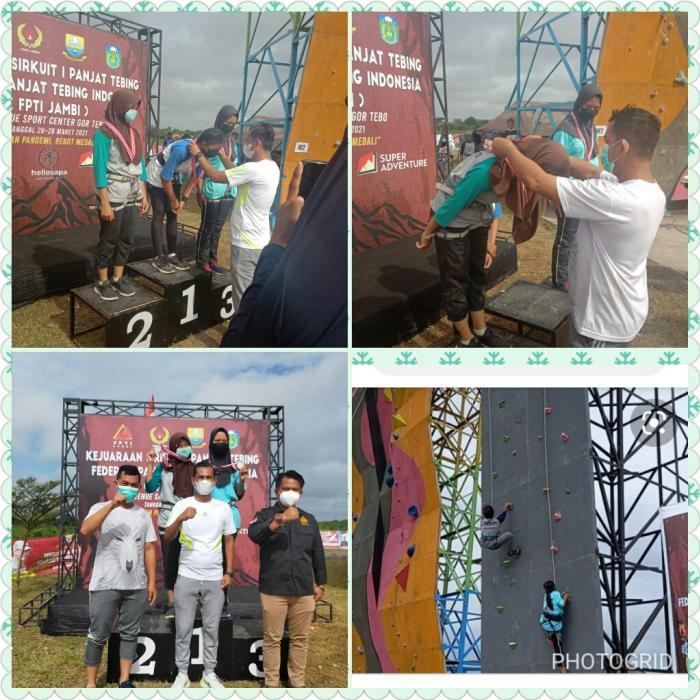 Medali Perak Kurratul Aini pada Kejuaraan Sirkuit I,Panjat Tebing TK-Provinsi Jambi