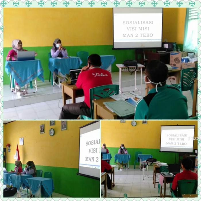 MAN 2 Tebo menggelar acara sosialisasi Visi Misi dan Peraturan Akademik
