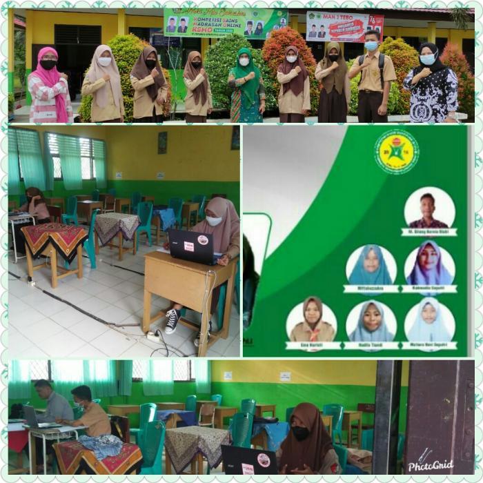 Daring MAN 2 Tebo mengikuti Kompetisi Sains Madrasah Tingkat Kabupaten